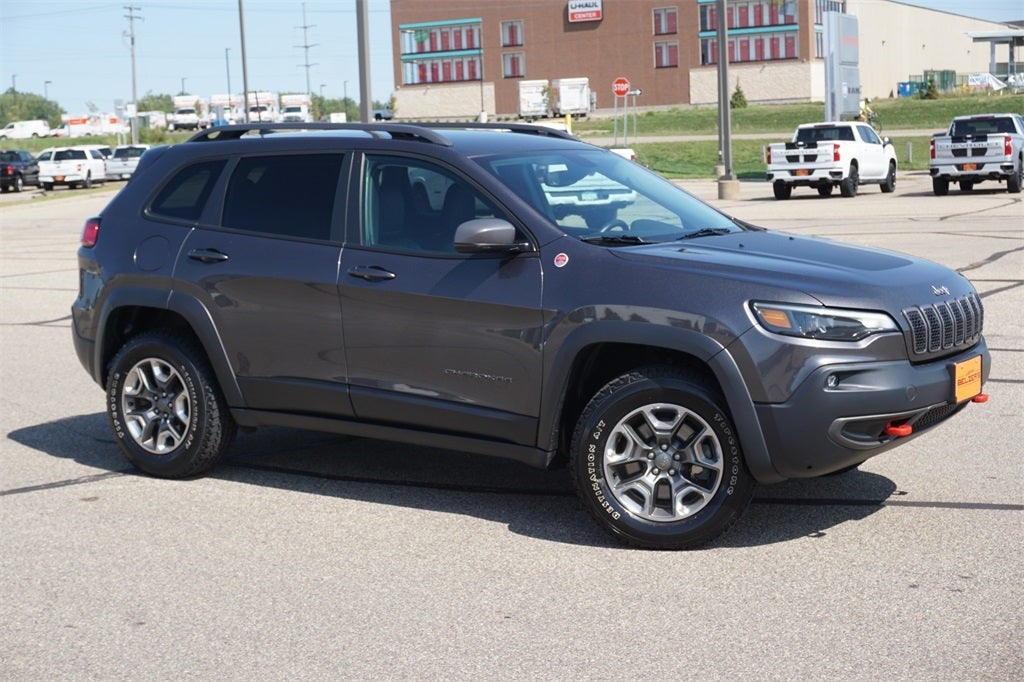 Certified 2019 Jeep Cherokee Trailhawk with VIN 1C4PJMBN3KD258875 for sale in Lakeville, Minnesota